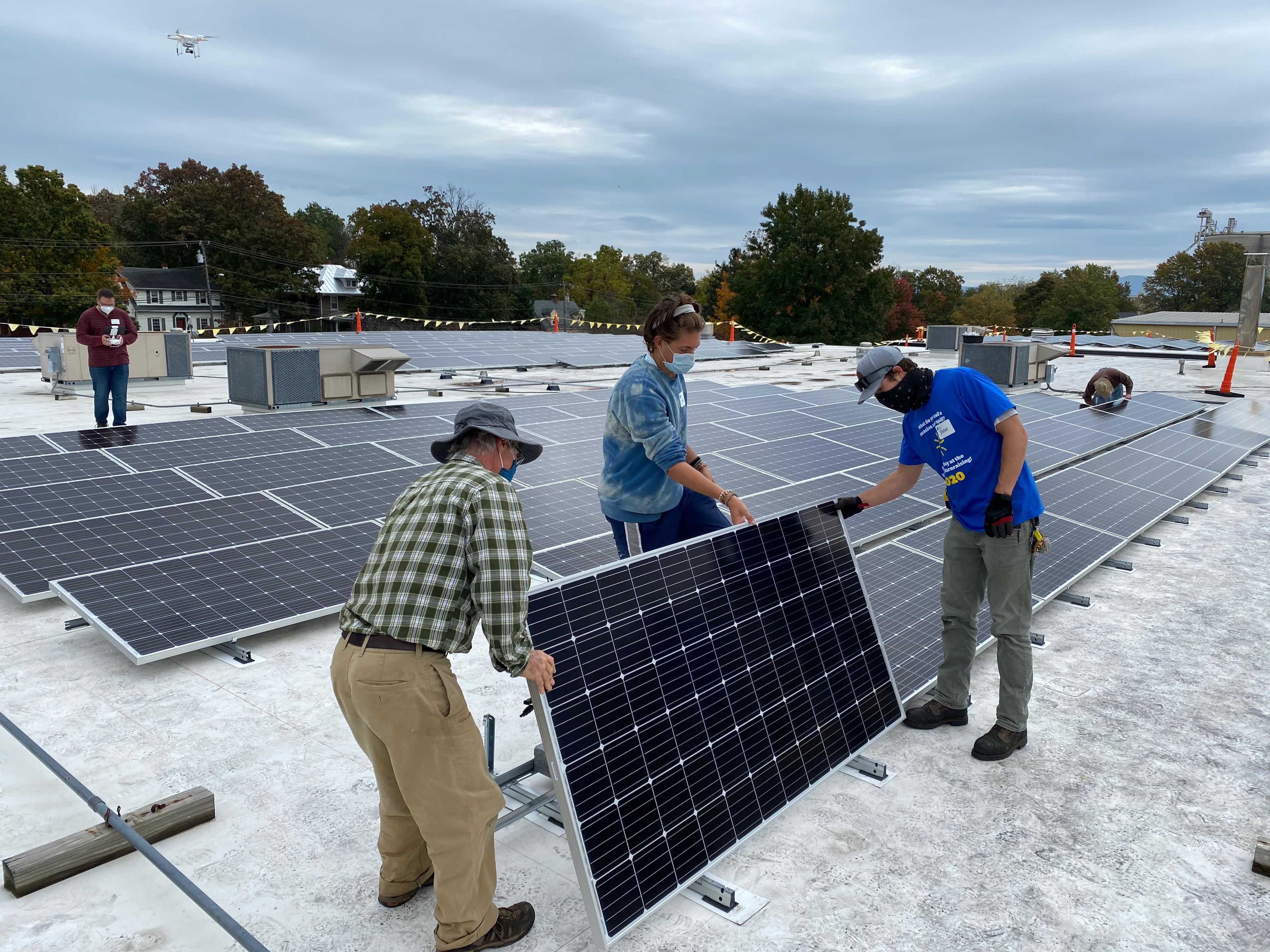 photo of solar installation